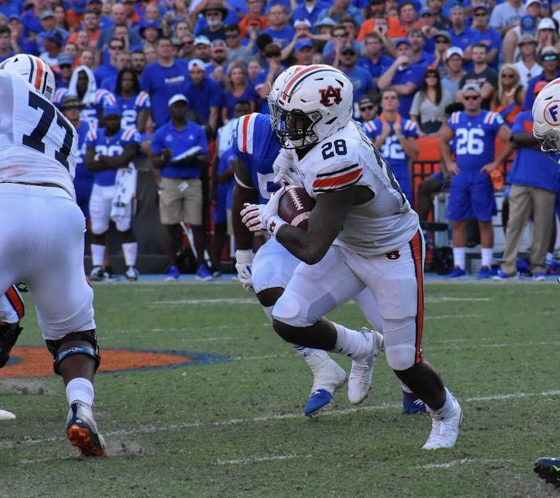 Whitlow (28) runs the ball during Auburn vs. Florida, on Saturday, Oct. 5, 2019, in Gainesville, Fl.