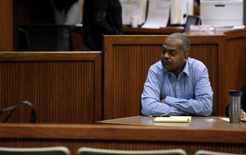 Defendant Tony Martin Patillo, of Columbus, Ga., sits inside Judge Christopher Hughes' courtroom Tuesday, Feb. 26, 2019, at the Lee County Justice Center during jury selection. Patillo is facing sex-related charges in connection to the sexual assault of an 18-year-old Auburn University student in fall 2017.