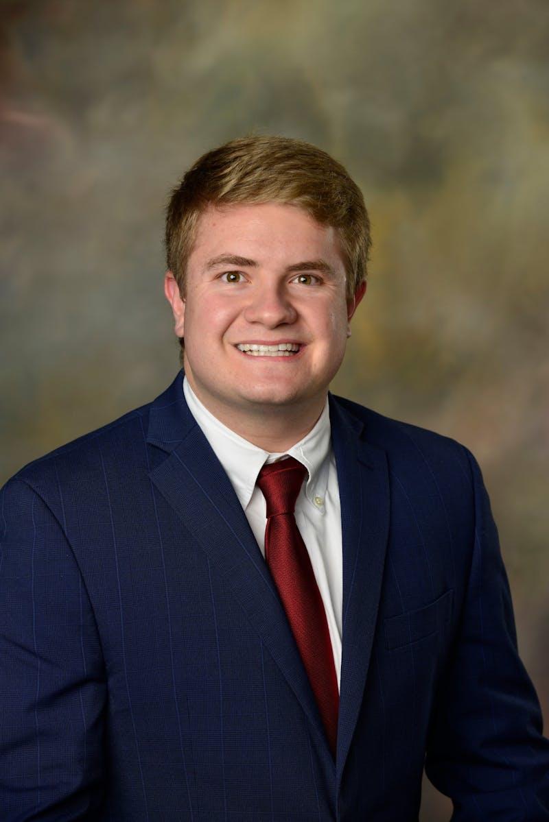 James Sadie, junior in finance, is running for SGA president.