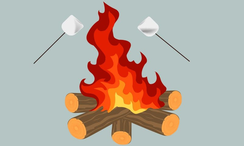 Bonfires are a common staple in the fall.