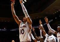 Samir Doughty (10) shoots during Auburn vs. Furman on Dec. 5, 2019, in Auburn, Ala.