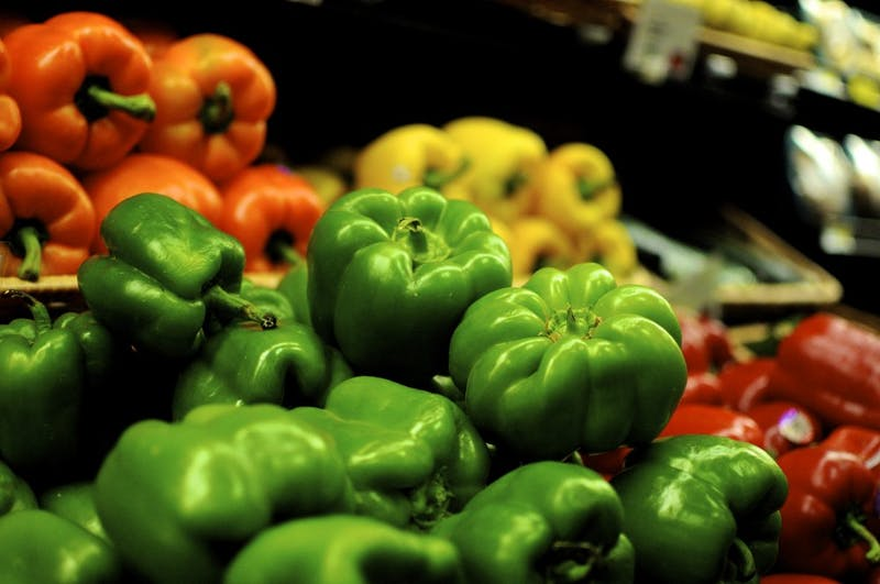 Vegetables in Earth Fare grocery store on Opelika Road in Auburn, Ala.