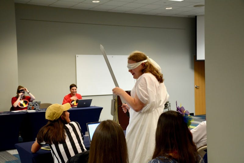 SGA Senators dress up for a Halloween-themed version of Senate on Oct. 29, 2018 in Auburn, Ala.