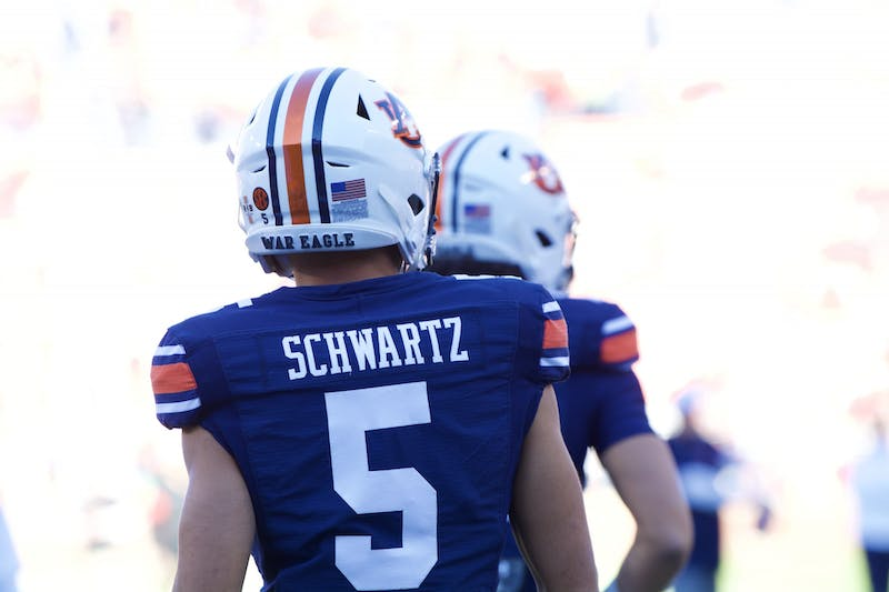 Anthony Schwartz (5) during the Auburn vs. Georgia game on Saturday, Nov. 16, 2019, in Auburn, Ala.