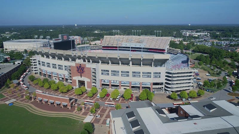 The Auburn Tigers play in Jordan-Hare Stadium in Auburn, Ala.