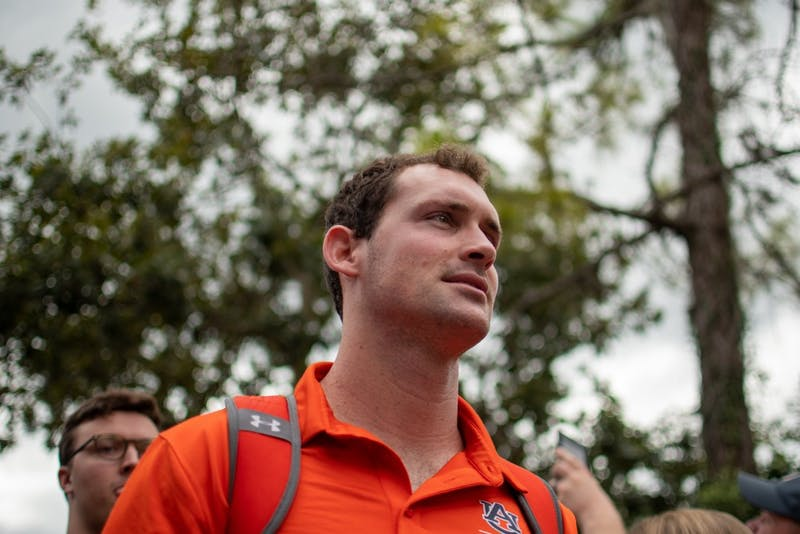 Cord Sandberg walks in the Tiger Walk prior to Auburn vs. Florida, on Saturday, Oct. 5, 2019, in Gainesville, Fla.