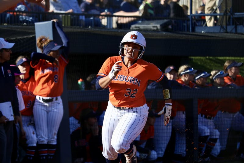 Makenna Dowell (32) during the Auburn Softball vs. Alabama State on Saturday, Feb. 15, 2020, in Auburn, Ala.