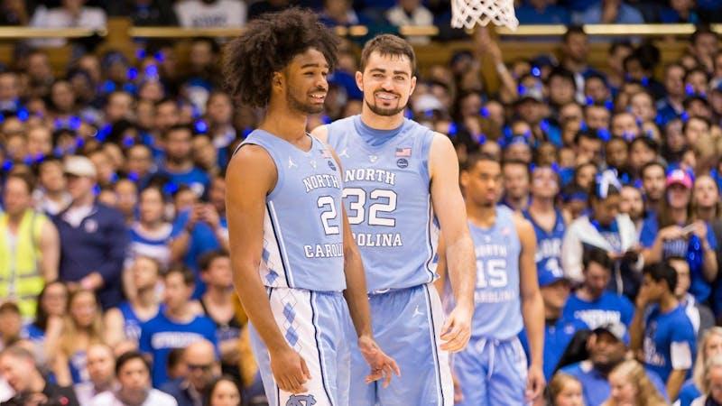 North Carolina vs Duke ACC Regular season mens basketball game at the Cameron Indoor Stadium in Durham, NC on February 20, 2019. Via UNC Athletics.