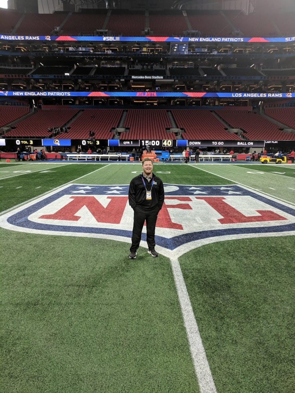 'It was unreal': Turf management major works with grounds crew at Super Bowl LIII