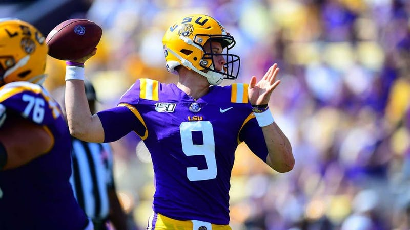 Joe Burrow (9) via LSU Athletics
