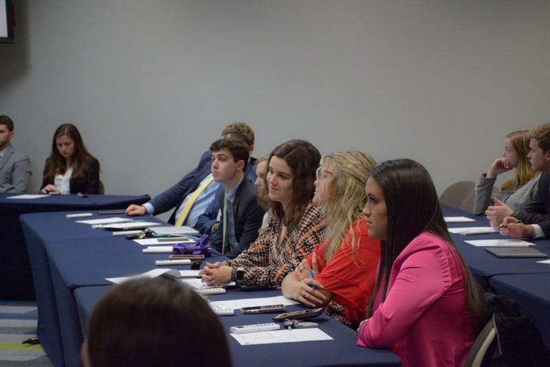 SGA Senate meeting on March 25, 2019, in Auburn, Ala.