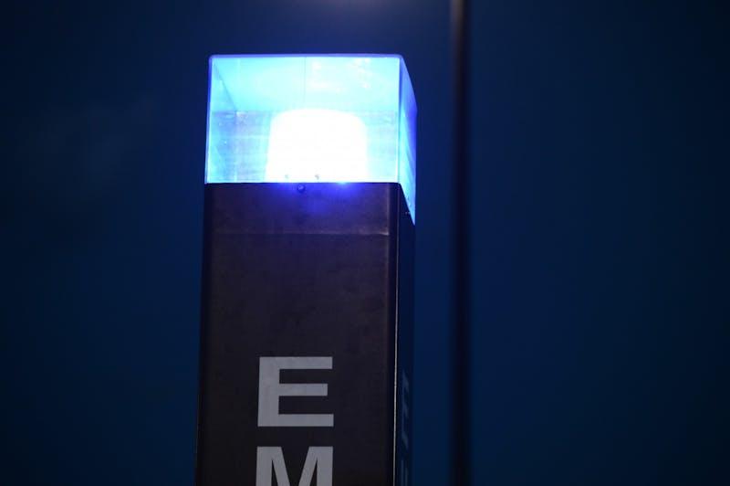 Blue emergency light