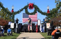 New American Freedom Train Band plays patriotic music at 10:00 am on Nov. 10, 2018, in Opelika, Ala.