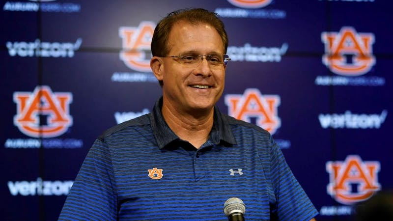 Coach Gus Malzahn. Auburn football Tuesday presser on Tuesday, Sept. 18, 2018 in Auburn, Ala.