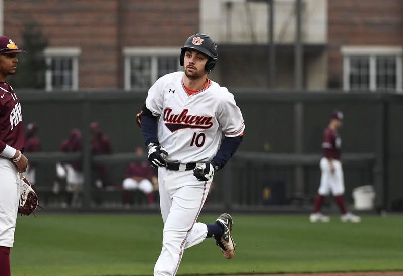 Edouard Julien (10). Auburn baseball vs Alabama A&M on Wednesday, February 20, 2019, in Auburn, Ala.