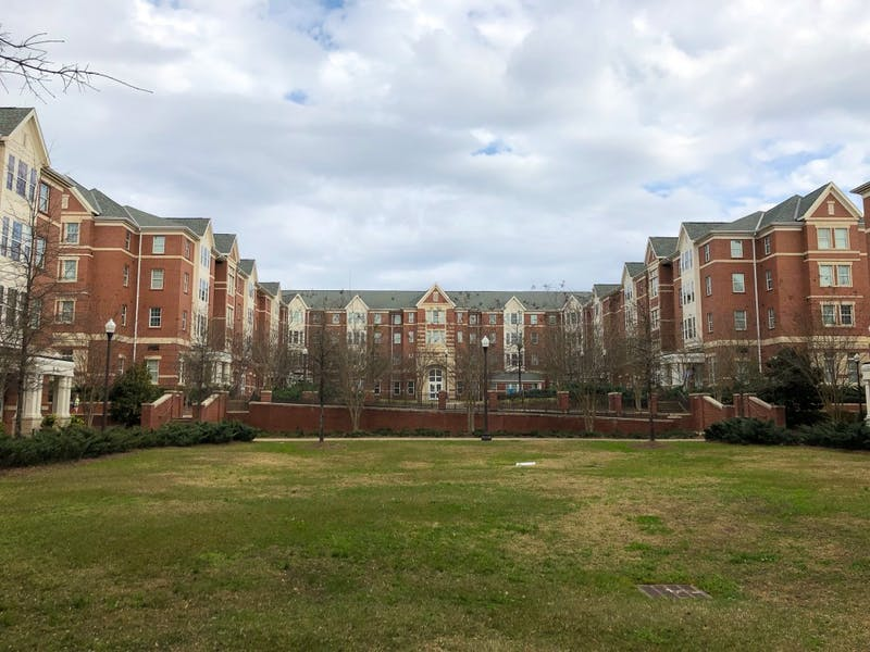 Village dorm buildings on Auburn University's campus.