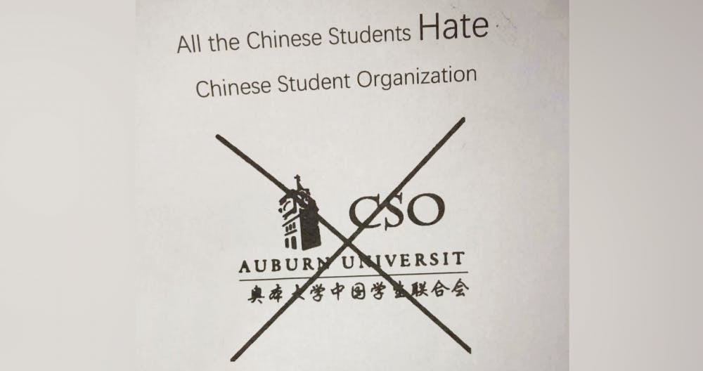 Fliers attack Chinese Student Organization