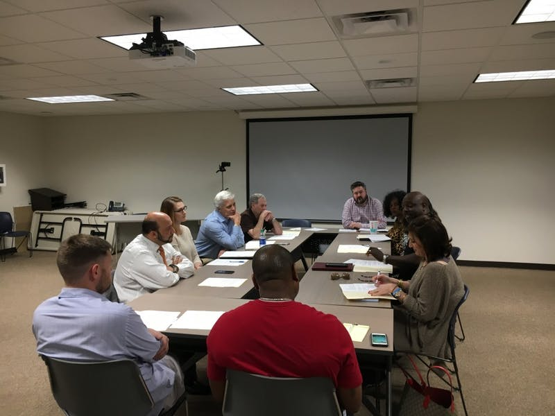 The Diversity Task Force meets on Feb. 5, 2019, in Auburn, Ala.