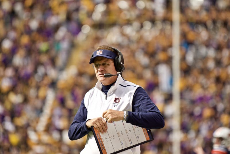 Gus Malzahn during the Auburn vs. LSU game Saturday Oct. 26, 2019, in Baton Rogue, La.