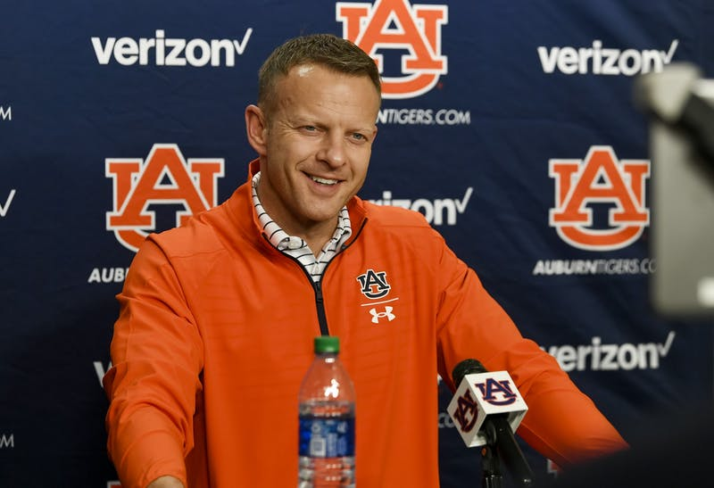 Auburn football coach Bryan Harsin talks during the signing day presser on Wednesday, Feb. 3, 2020 in Auburn, Ala.Todd Van Emst/AU Athletics