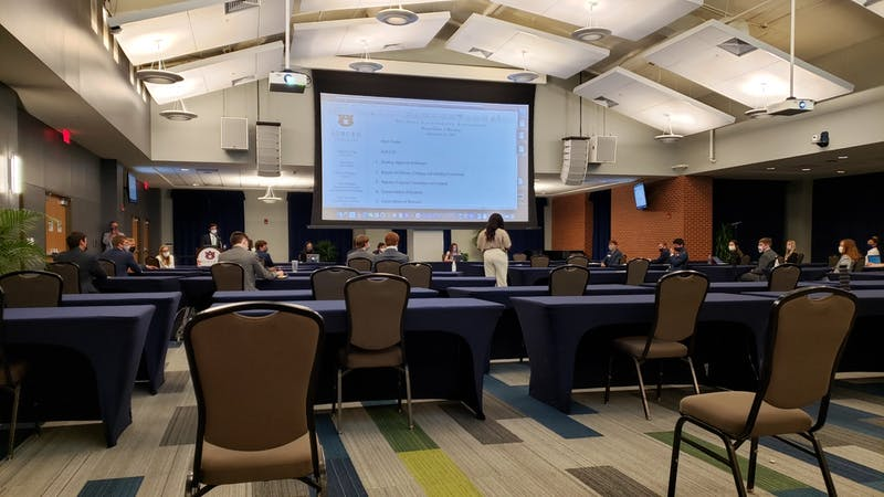 SGA Senate meets on Sept. 14, 2020, in Auburn, Ala.
