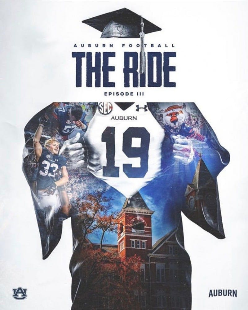 """The Ride"" is a YouTube series that gives insight into the lives of the 2019 Auburn University football team."