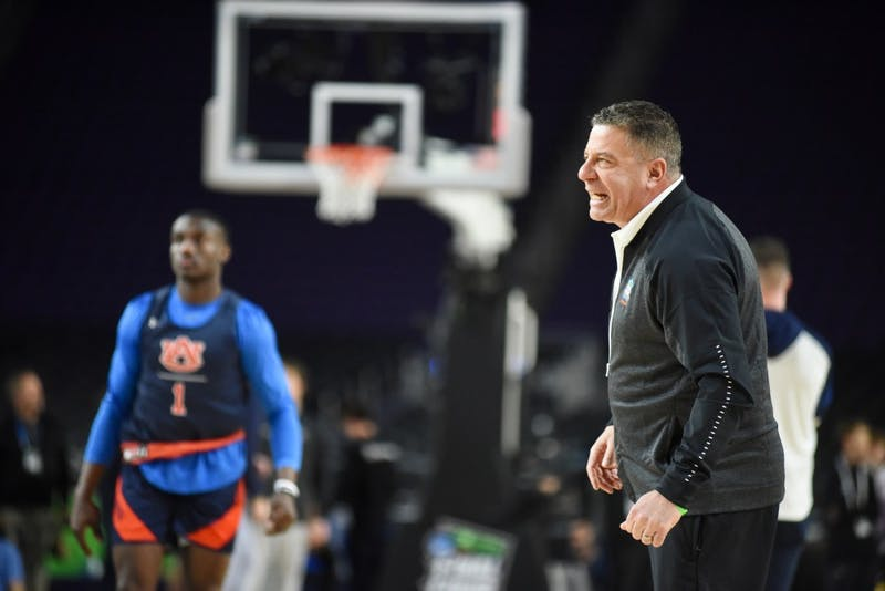 Head coach Bruce Pearl during an open practice on Friday, April 5, 2019, in Minneapolis, Minn.