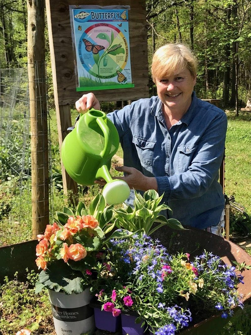 """Cyndi Czerkawski started """"In the Garden with Cyndi"""" so community members can receive hands-on experience on how to garden."""