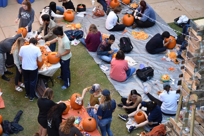 On Friday October 27 Auburn students and families gathered all day to take part in the AIAS 29th annual Pumpkin Carve at Dudley Hall's courtyard.