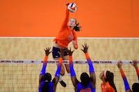 Oct 21, 2020; Auburn, AL, USA; Auburn Tigers Val Green (16) during the game between Auburn and Florida at Auburn Arena. Mandatory Credit: Shanna Lockwood/AU Athletics