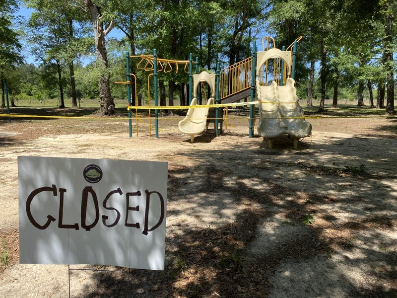 Playgrounds are among the many public areas in Geneva County, Alabama, and around the country that are closed during the COVID-19 pandemic.