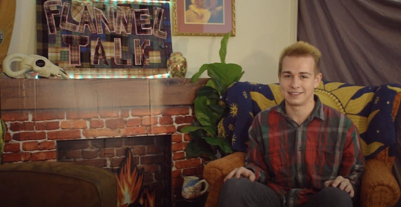 Patrick Thomley, president of Lee County Flannel Club, stars in the club's series 'Flannel Talk.'