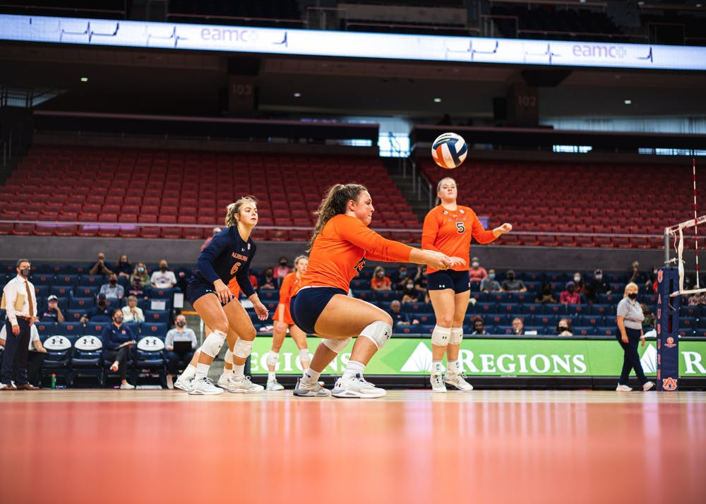 Auburn volleyball takes down Nicholls State to improve record to 7-1