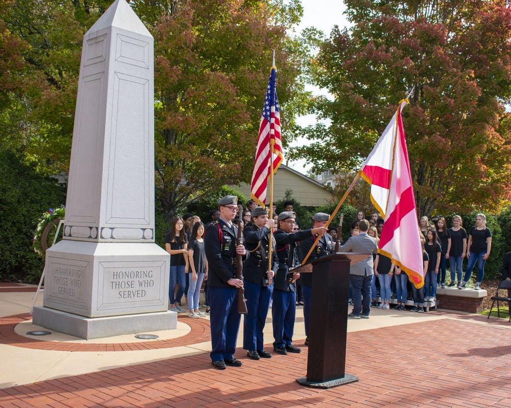 Marine officer shares appreciation for fellow service members at annual Veteran's Day Ceremony
