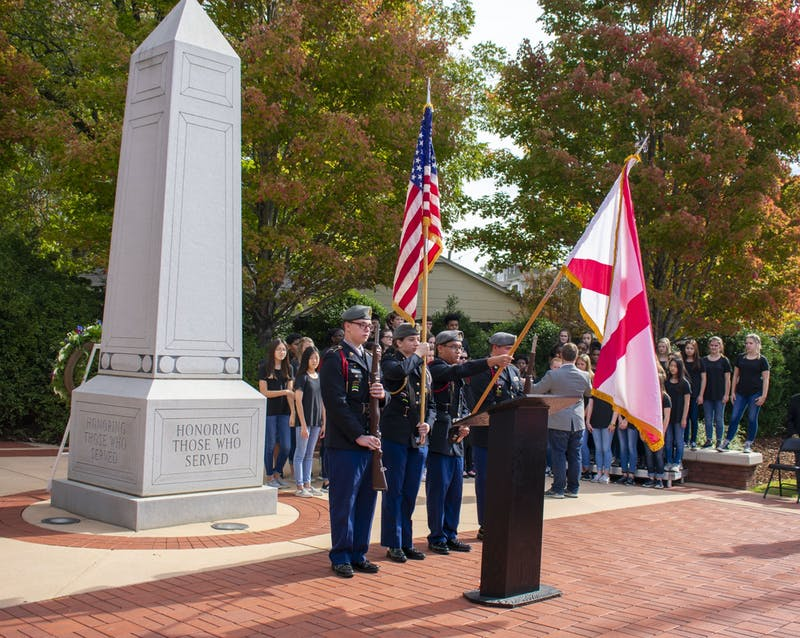 Auburn's Veteran's Day Ceremony is held annually and is attended by many government officials and citizens.