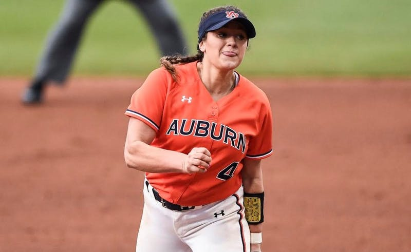 Ashlee Swindle (4). Softball vs Tennessee during the SEC Tournament on Thursday, May 9, 2019, in College Station, TX. Cat Wofford/Auburn Athletics