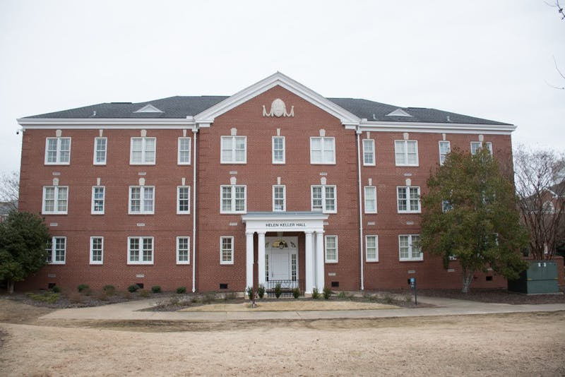 Helen Keller Hall in The Quad on Feb. 9, 2018, in Auburn, Ala.