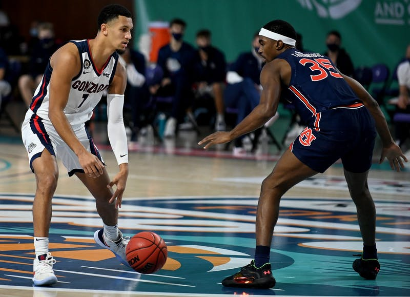 Auburn takes on Gonzaga during the Third-Annual Rocket Mortgage Fort Myers Tip-Off at the Suncoast Credit Union Arena on the campus of Florida SouthWestern State College in Fort Myers ,Thursday, Nov.27,2020.(Photo/Chris Tilley)