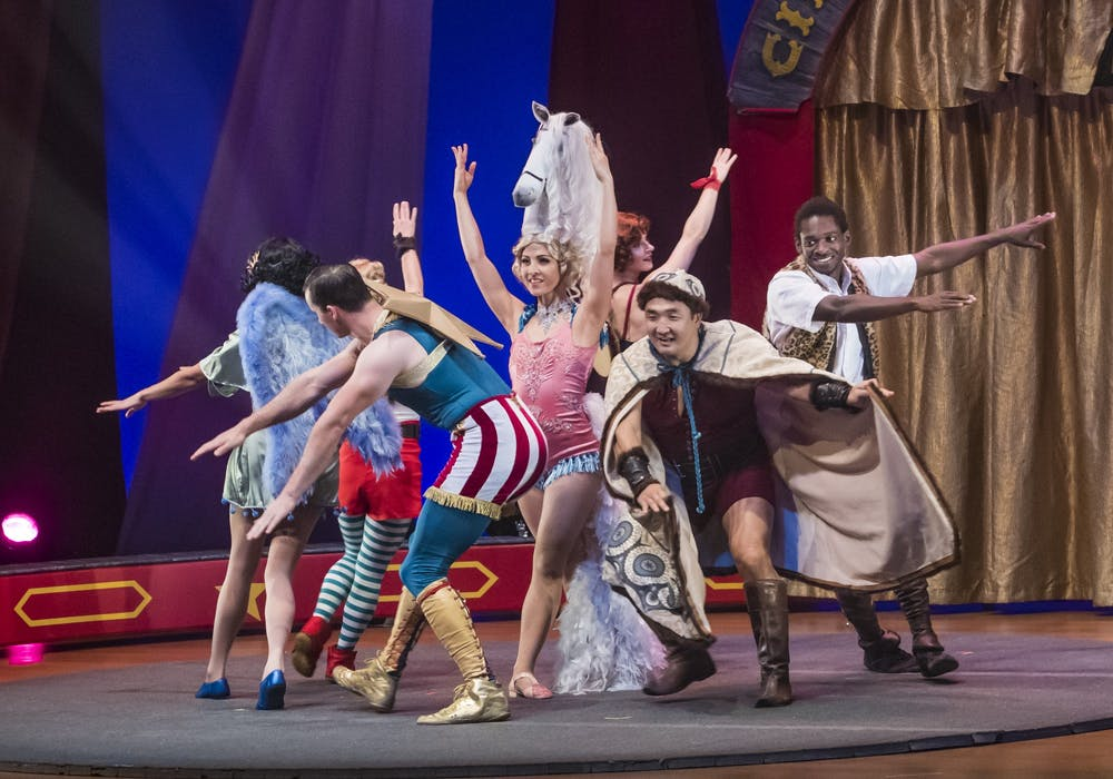 Circus troupe debuts at the gogue center