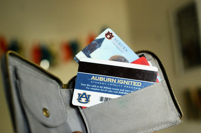 Auburn students use Tiger Cards for the on-campus meal plan.