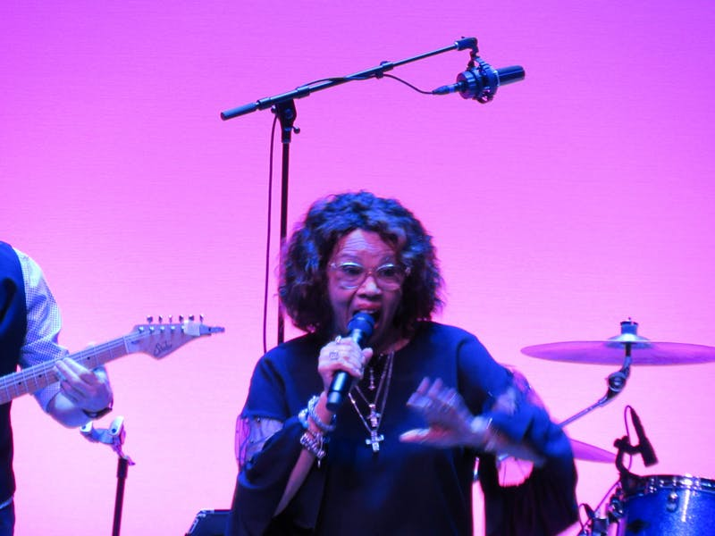 Cadi Staton performing at the Jay and Susie Gogue Performing Arts Center on September 18, 2021 in Auburn, Ala.