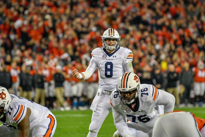 Jarrett Stidham (8) during Auburn Football vs. Georgia on Saturday, Nov. 10, 2018, in Athens, Ga.