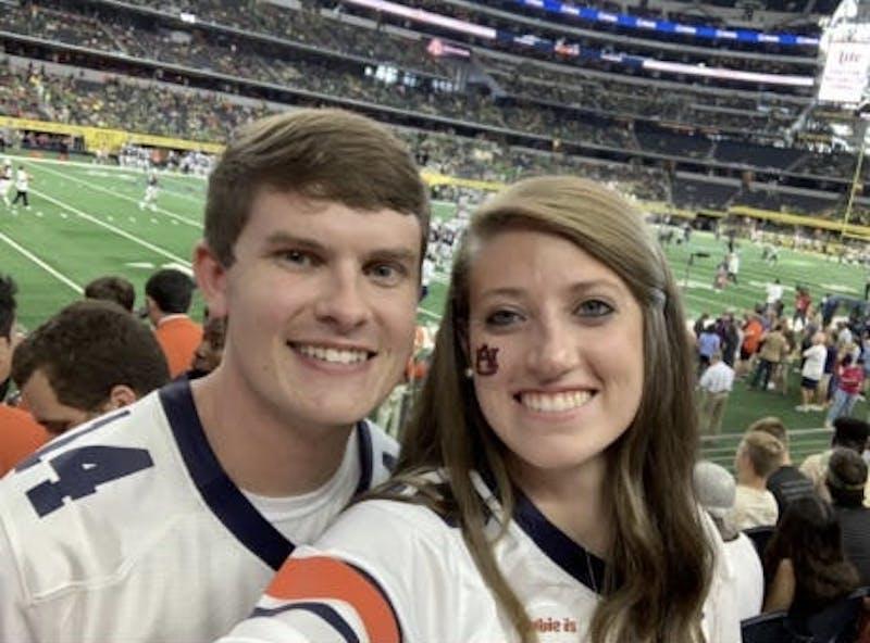 Fucito and McGhee in Dallas at the game