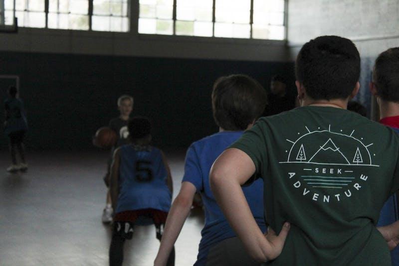 The Auburn Raptors 5th grade boys team practices at the East Samford School on Thursday, March 27, 2019, in Auburn, Ala.