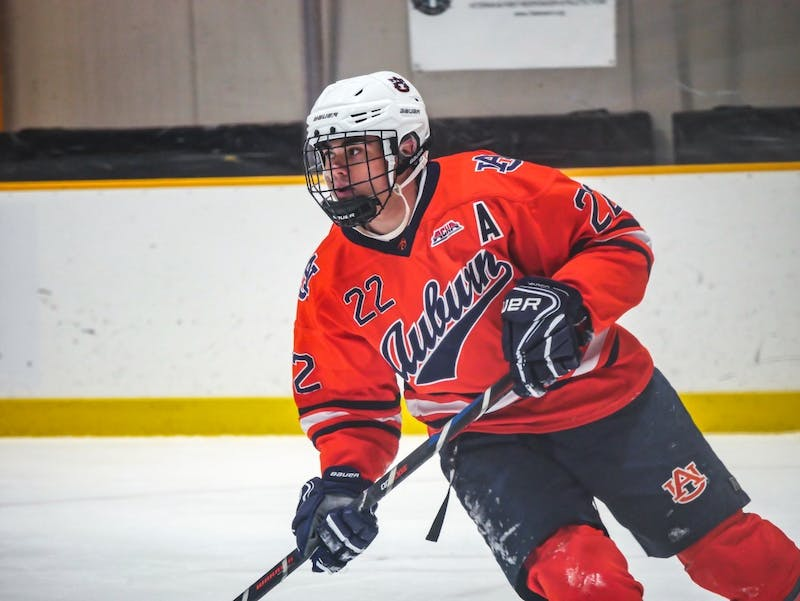Brandon Weis in play on the ice during a previous Hockey Club season.