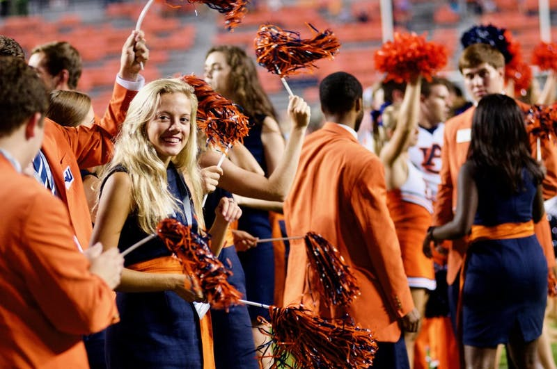 Plainsmen and War Eagle Girls celebrate after Auburn's win against Alabama State on Sept. 8, 2018, in Auburn, Ala.