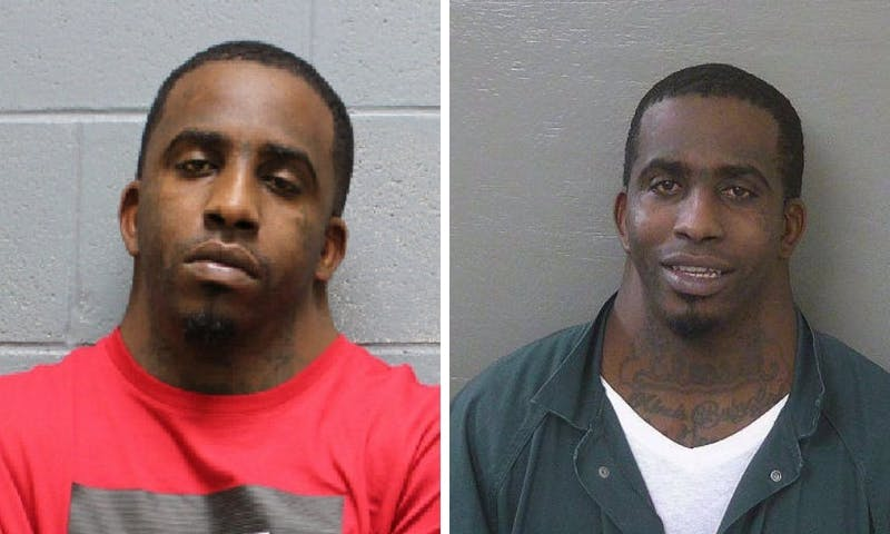 Charles Dion McDowell, 31, was arrested in Lee County Wednesday. His Lee County mugshot is on the left and his mugshot from Escambia County, Florida, is on the right, which went viral.