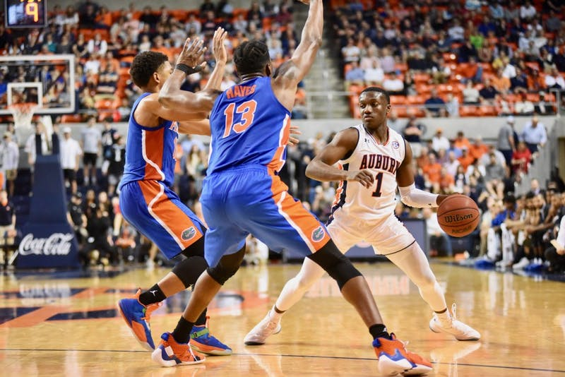 Jared Harper (1) during Auburn Men's Basketball vs. Florida on Tuesday, Feb. 5, 2019, in Auburn, Ala.