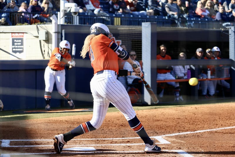 Alyssa Rivera (21) during the Auburn Softball vs. Alabama State on Saturday, Feb. 15, 2020, in Auburn, Ala.