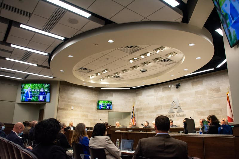 Auburn's City Council met in the City Council Chamber at 141 N. Ross St. on May 4, 2021.